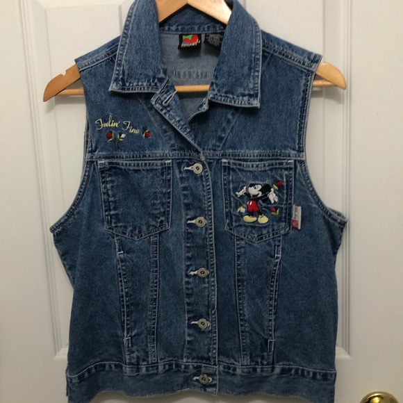 Mickey Unlimited Jackets & Blazers - Mickey Mouse denim vest